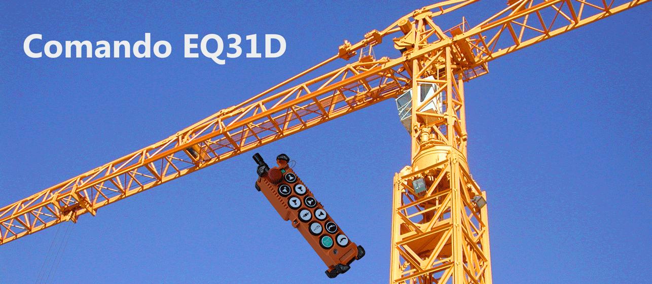 Construction crane and remote control