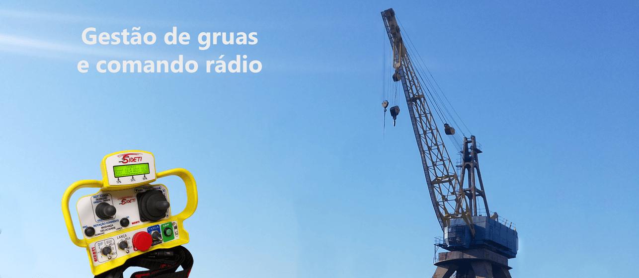 Port crane and radio remote control