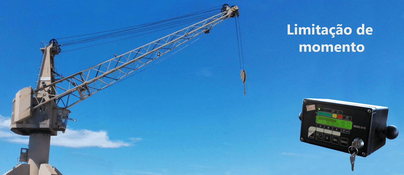 Port crane with moment control